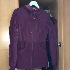 Lululemon burgundy zip up jacket